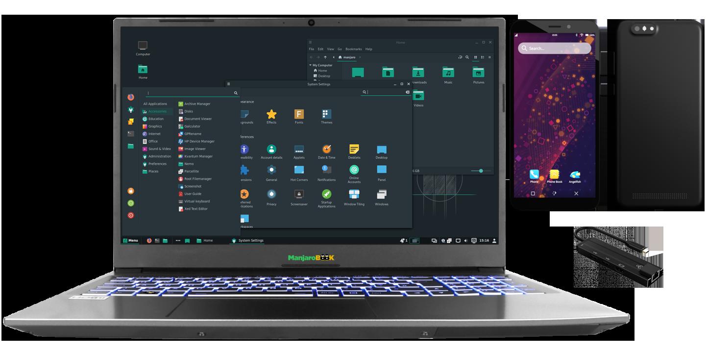 "ManjaroBook 15.6"" AMD + PinePhone Combo"