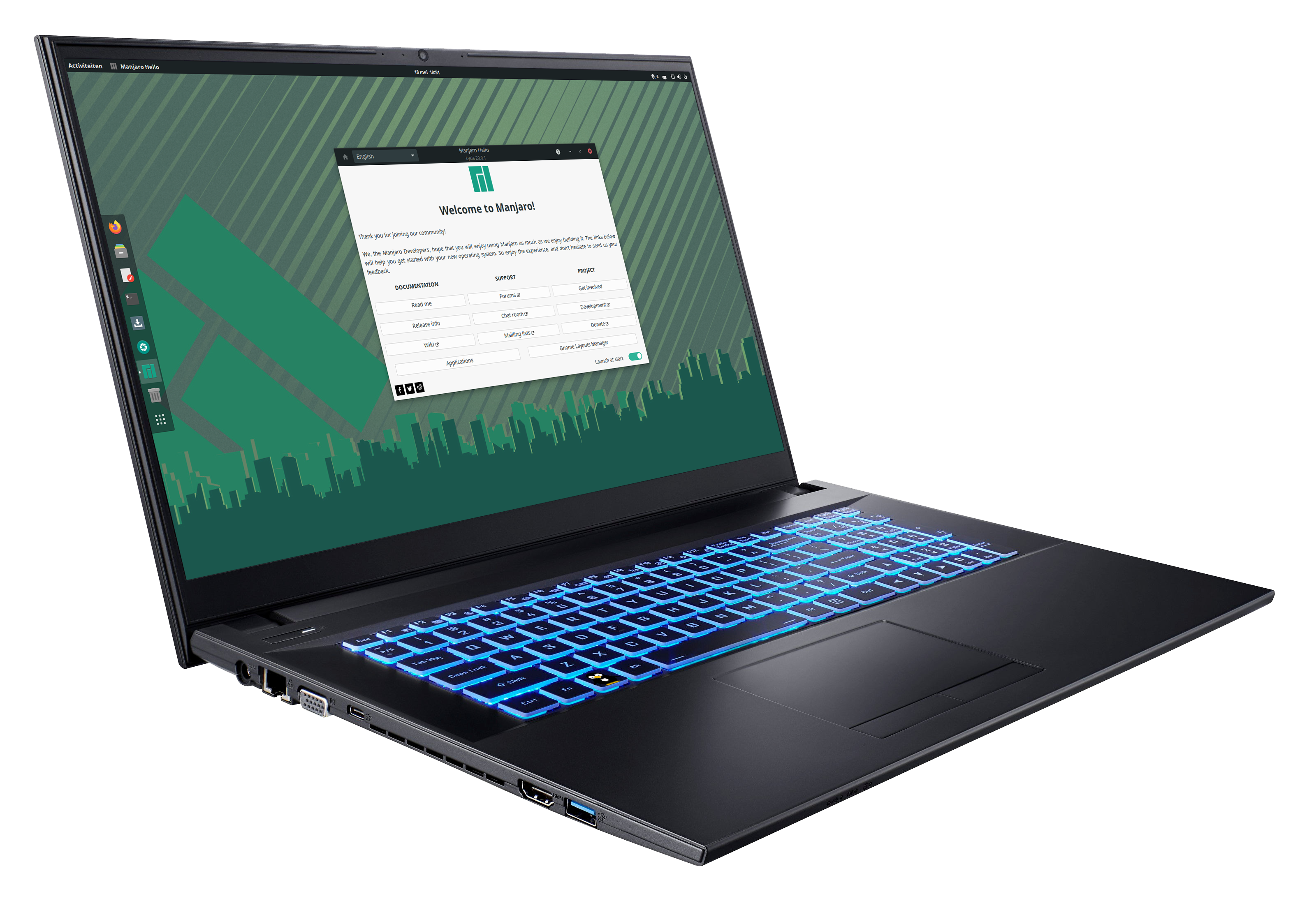 "Manjaro NoteBook 17.3"" HD"